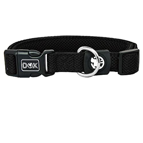 DDOXX Collare Cane Air Mesh, Imbottito, Regolabile | Tanti Colori e Taglie | Per Cani Piccoli Medi e Grandi | Collari per Gatti Cuccioli Taglia Piccola Media Grande | Collarino Gatto | Nero, XS