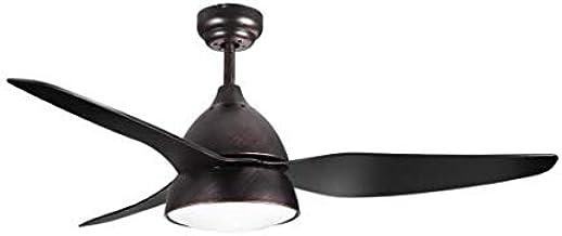 Ventilador de techo rustico AUTAN con luz y mando a distancia, Fabrilamp.: Amazon.es: Iluminación