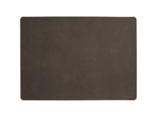 ASA Set de table en PVC Terre 46 x 33 cm Soft Leather en PU