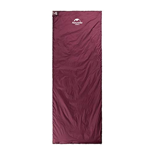 CATRP-Sac de couchage Anti-salissure Extérieur pour Adulte, Tente Individuelle Ultra-légère, Saison 4, Camping (Color : Wine Red, Size : 205X85CM)