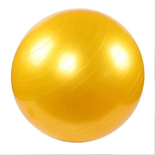 DHJWAI,verdickt Gymnastikball Fitness Pilates-Ball Rückentraining und Coordination (Familie, Fitnessstudio und Büro) Core Strength Rückenübungen,Gelb-100cm
