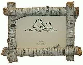 Rustic Birch Wood Log 4x6 Photo Frame (Horizontal)