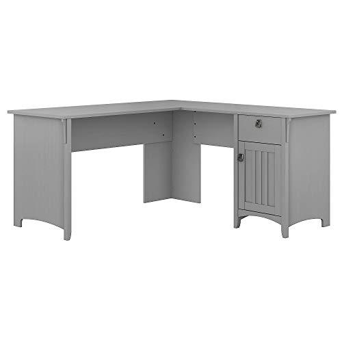 Bush Furniture Salinas L Shaped Desk with Storage in Cape Cod Gray