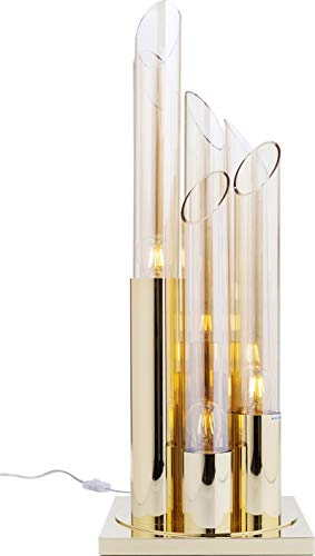 Kare Design Tischleuchte Pipe Gold 80 cm, große, edle Tischlampe, Stehleuchte für den Esstisch, Nachttischlampe, Lampe, (H/B/T) 80x30x30cm