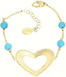 Gabriela Rigamonti Jewels-Bracciale in Oro giallo 18kt con gemma turchese naturale.