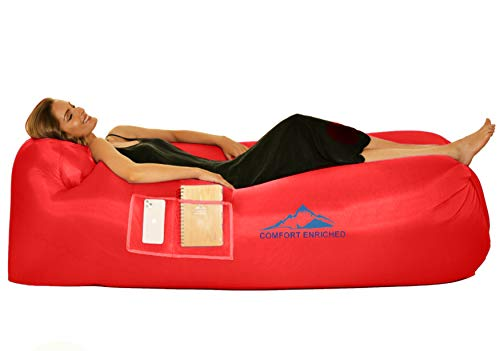 Comfort Inflatable Lounger Air Sofa Hammock - Air Lounger for Travel, Camping, Hiking – Portable,...