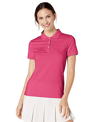 Amazon Essentials Damen-Poloshirt mit kurzen Ärmeln, Pink, S