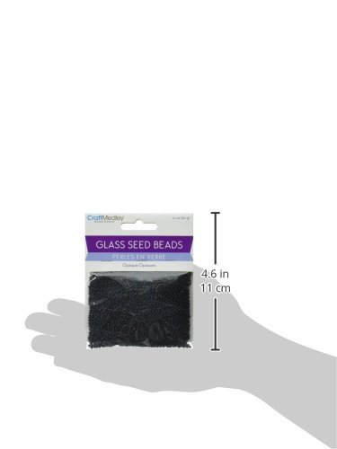 Multicraft Imports Glass Seed Beads, 12/0, 60g, Opaque, Black Maine