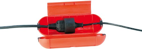 reVolt Steckerschutz: Wasserfeste Schutzkapsel für Stromstecker/Verlängerung (Kabelbox)