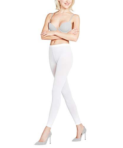 FALKE Damen Leggings Pure Matt 50 Denier - Semi-Blickdicht, Matt, 1 Stück, Weiß (White 2209), Größe: S