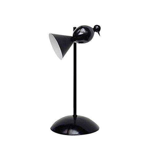 YONGJUN Personnalité Table Lampe-Bureau Lampe De Bureau Salon Chambre Bar Moderne Minimaliste Personnalité Industriel Vent Rétro En Fer Forgé Lampe De Bureau (Color : Black)