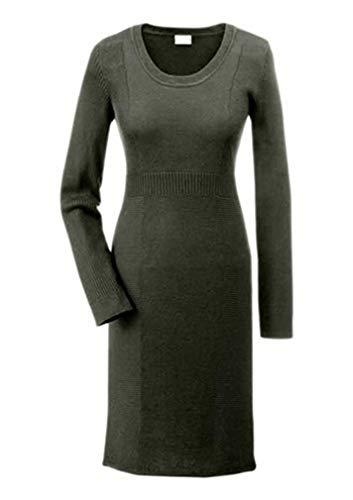 Kleid Strickkleid von Aniston - Oliv Gr. 44