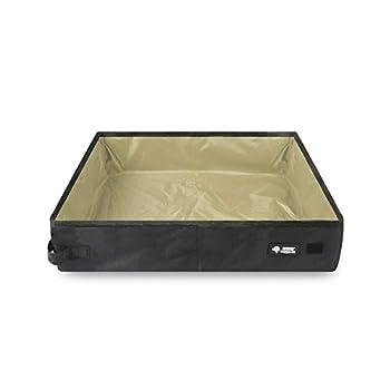CHuangQi Boîte à litière pour Animaux de Compagnie Portable Pliable imperméable, Plateau de litière pour Chat Pliable en Tissu