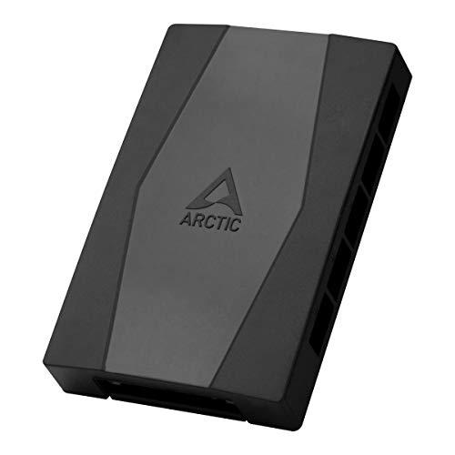 ARCTIC Case Fan Hub - Hub per Ventole, Distributore di Ventilatori, Funzione PWM, fino a 10 Ventole (4 pin), Connettore con Potenza SATA - Nero