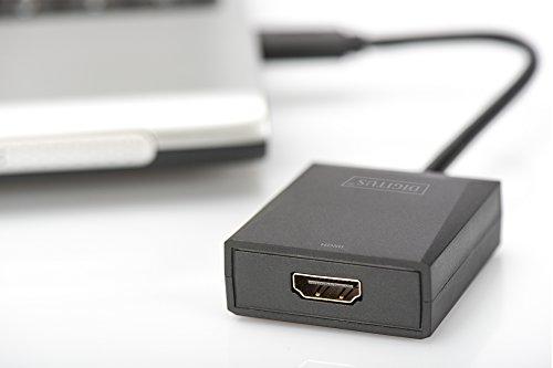 DIGITUS USB 3.0 Grafik Adapter, USB A zu HDMI Typ A, Full HD, 1920x1080 Pixel, Kunststoff, Schwarz