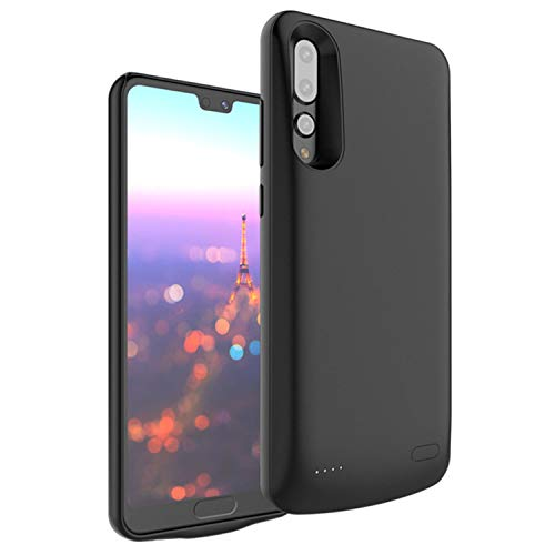 HQXHB Funda Batería para Huawei P20 Pro, 6000mAh Funda Cargador Portatil Batería Externa Carcasa Batería Recargable Power Bank Case para Huawei P20 Pro - Negro