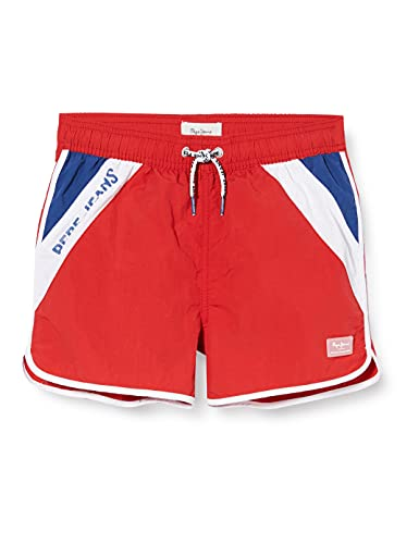 Pepe Jeans Jungen TOMEU Badehose, Red, 14