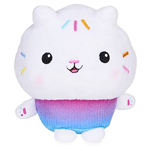 Gabby's Dollhouse  7-inch Cakey Cat Purr-ific Plush Toy  Kids Toys for Ages 3 and up