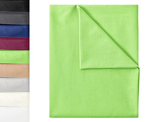GREEN MARK Textilien Klassische Bettlaken   Betttuch   Laken   Leintuch   Haustuch 100% Baumwolle ohne Gummizug vielen Größen und Farben Größe:150x250 cm, Apfel grün