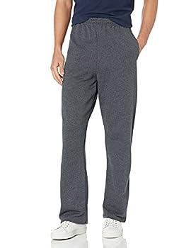 Jerzees mens Fleece Sweatpants Open Bottom - Black Heather X-Large US