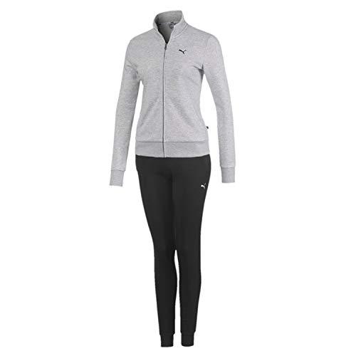 PUMA Damen Classic Sweat Suit cl TR Trainingsanzug, Light Gray Heather, XS