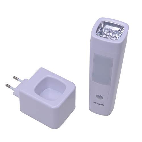 Filmer 2in1 Multifunktions-Nachtlicht und Taschenlampe | mit Bewegungsmelder | mit Akku & Induktions-Ladung | Notlicht-Funktion | Nachtlicht Taschenlampe Notlicht