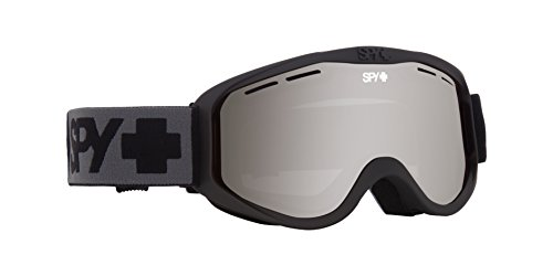 Spy Optic Cadet 313347374207 Snow Goggles, One Size (Matte Black Frame/Silver Lens)
