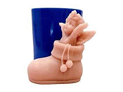 Siliconen mal voor ambachtelijk gebruik baby engel in een 3d-schoen - ook geschikt voor zeep