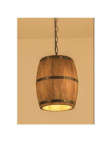Kronleuchter, antike Holzfasslampe, amerikanischer Landhausstil, Holzleuchte für Esszimmer, Wohn- und Schlafzimmerarbeitszimmer, Massivholz
