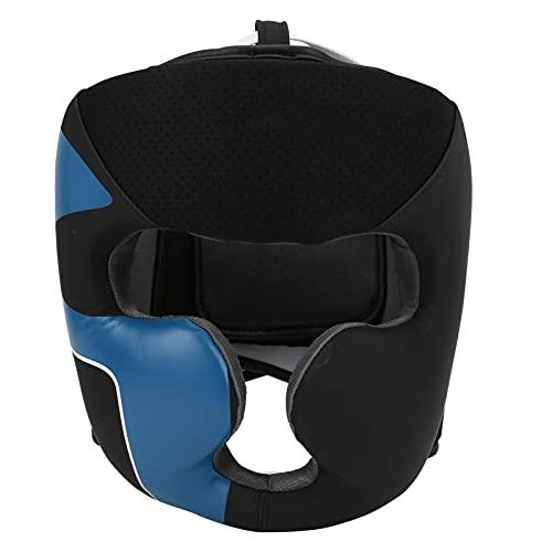 SHYEKYO Casco de Boxeo con Barra Facial, Transpirable, Suave, Duradero y Resistente, Casco de Boxeo BN Fight para Hombre y Mujer(M)
