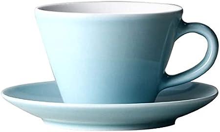 Taza de café y platillo europeo Conjunto 8oz, Copa de cerámica clásica y platillo para café Copa de té de color puro Copa de capuchino, lavavajillas Desinfección Caja fuerte, Máquina de café disponibl