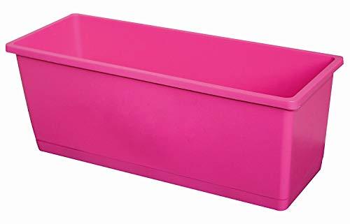 Jardinere OLIVERA 25cm Pflanzkasten mit Untersetzer aus Kunststoff, Farbe:pink