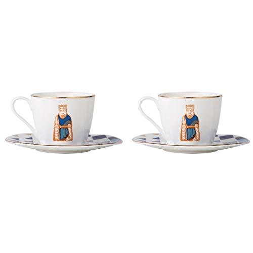 KGDC Espressotasse European Style Bone China Kaffeetasse und Untertasse Set (2-teiliges Set) Kreative Einfache Cappuccinotasse mit Phnom Penh Latte Mokka Spezial-Kaffeetasse Cosumy Espressotassen