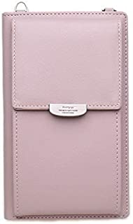 PU Leather Cell Phone Wallet Credit Card Holders Long Wallet Purse for Women Casual Ladies Flap Shoulder Bag Crossbody Bags