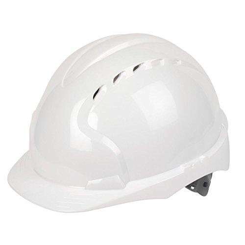 JSP EVO3 Comfort Plus ajustable antideslizante casco de seguridad blanco