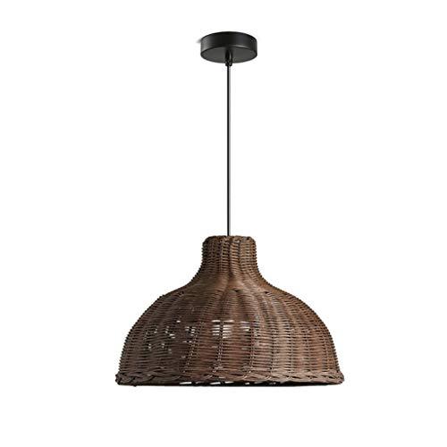 Plafondlamp Americano Country Style Guest Ristorante slaapkamer persoonlijke verlichting Bamboo Weave rotan lampenkap woonkamer