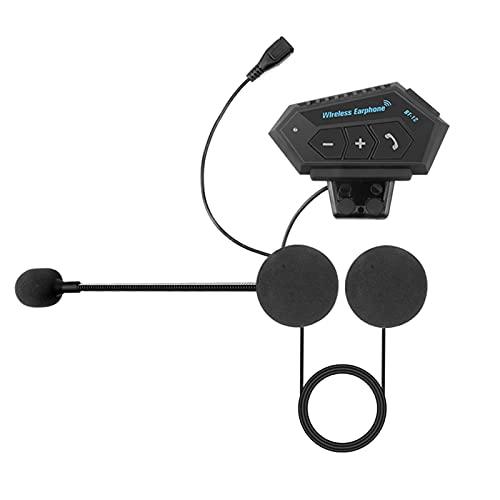 XWSQ Motocicleta Inalámbrica Bluetooth Casco Auriculares Aptante Teléfono Kit de Llamadas Estéreo Anti-Interferencia BT Auriculares para 2 Jinetes (Color : T2)