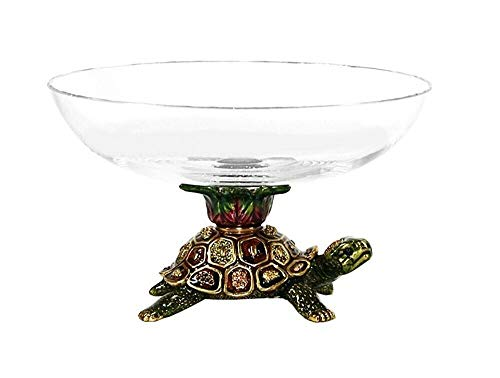Jay Strongwater Turtle Candy Dish Glass Bowl Yoshi