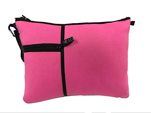 Beach and Pool Pillow (Pink) -10 Colors and Patterns -Washable - Water Resistant