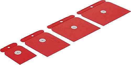 Kraftmann - Set 4 Pezzi Spatole In Plastica, 50-80-100-120 Mm Bgs1634