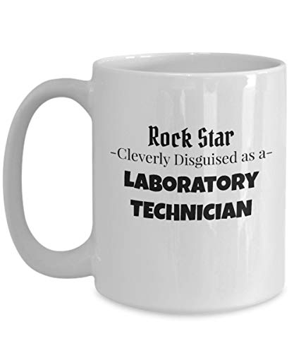 Taza de té de café de gran regalo Rock Star de técnico de laboratorio