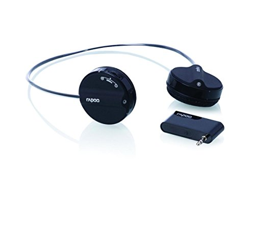 Rapoo 2.4Ghz 3.5mm Jack Wireless Headset with Microphone (H3070 Black)