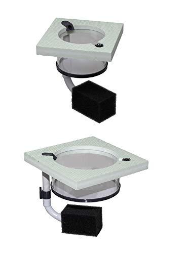 BAM schwimmender Aufzuchtring inkl. Filter zum Aufziehen von Jungfischen - Ablaichkasten