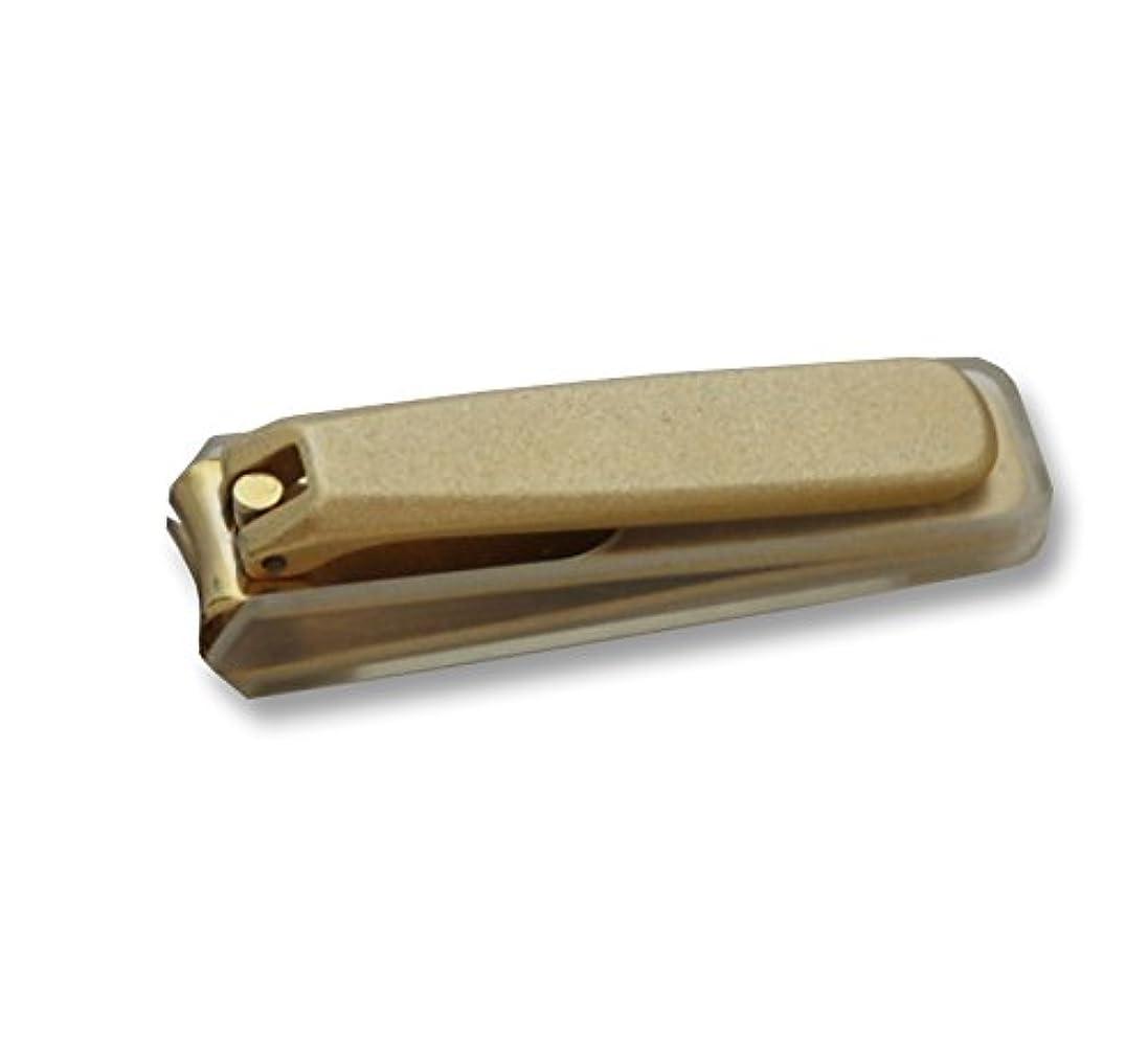 保安優雅失業者KD-030 関の刃物 ゴールド爪切 大 カバー付
