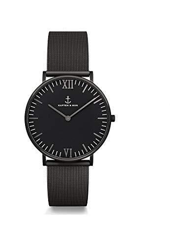 Kapten & Son Unisex-Uhren 36 Schwarz 32005336