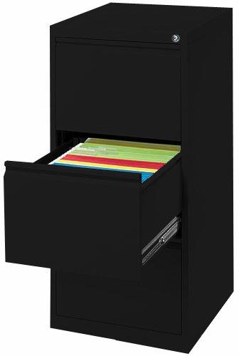 Profi Stahl Büro Hängeregistratur Schrank Bürocontainer 3 Schübe schwarz 560319 kompl. montiert und verschweißt
