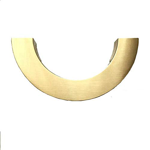 """3-3/4"""" 96 mm C-C Half Moon Drawer Pull Handles Dresser Pulls Semicircle Cabinet Handle Brushed Gold (Semicircle Drawer Pull)"""
