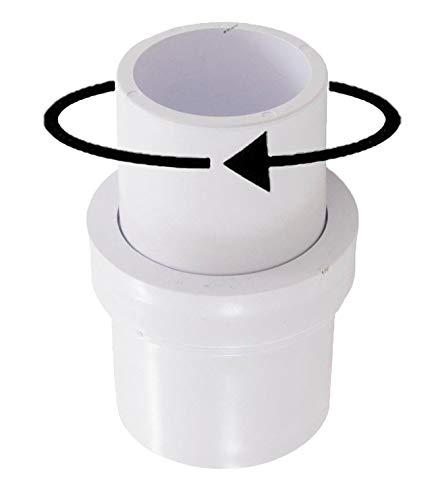 "ATIE 1-1/2"" Pool Vacuum Hose Swivel Adapter Connector for Manual Vac Vacuum Head Replace Pentair R201566"