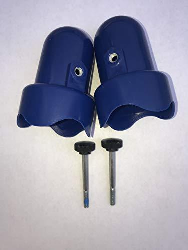 Skywalker Large Trampoline Enclosure Pole Caps, 2-Pieces - Blue
