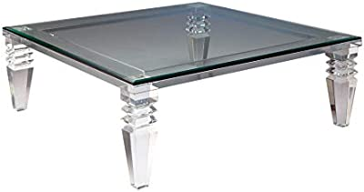 Amazon Com Acme Adalyn White Coffee Table With Display